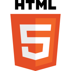 Image of HTML5 Logo and link to website