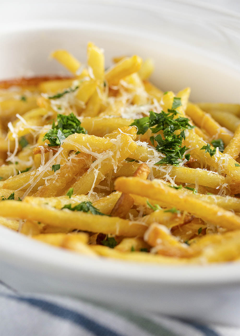 Image of Skinny Fries with Parmesan, Herbs and Truffle Oil