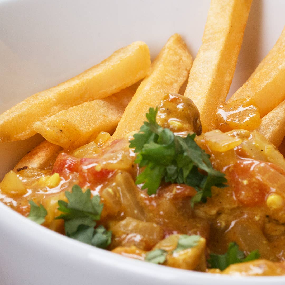 Image of Loaded Fries with Thai Vegetable Curry